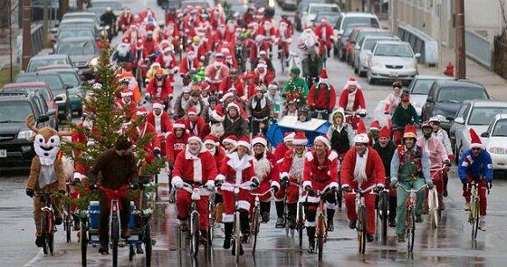 В Феодосии пройдет акция «Дед Мороз на велосипеде»